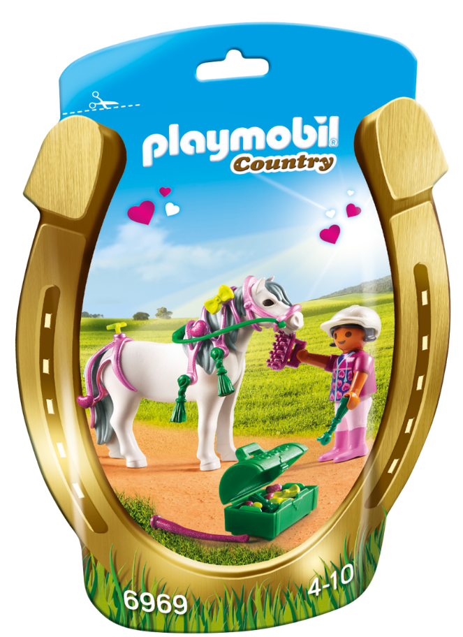 Playmobil - 6969 | Country: Groomer With Heart Pony