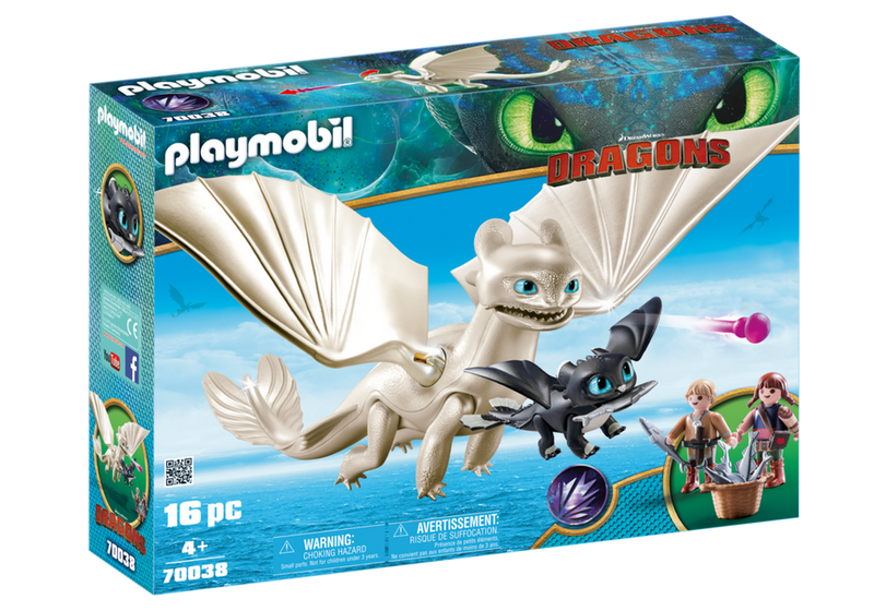 Playmobil - 70038 | DreamWorks Dragons: Light Fury with Baby Dragon and Children