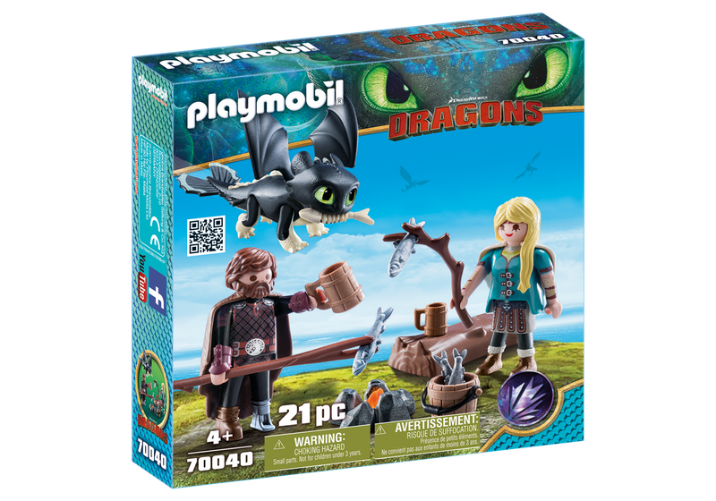 Playmobil - 70040 | DreamWorks Dragons: Hiccup and Astrid with Baby Dragon
