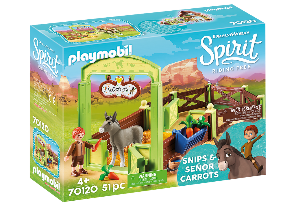 Playmobil - 70120 | Snips & Senor Carrots with Horse Stable