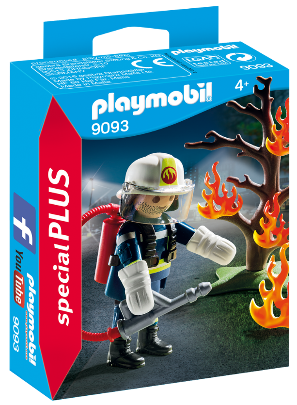 Playmobil - 9093 | Special Plus: Firefighter With Tree