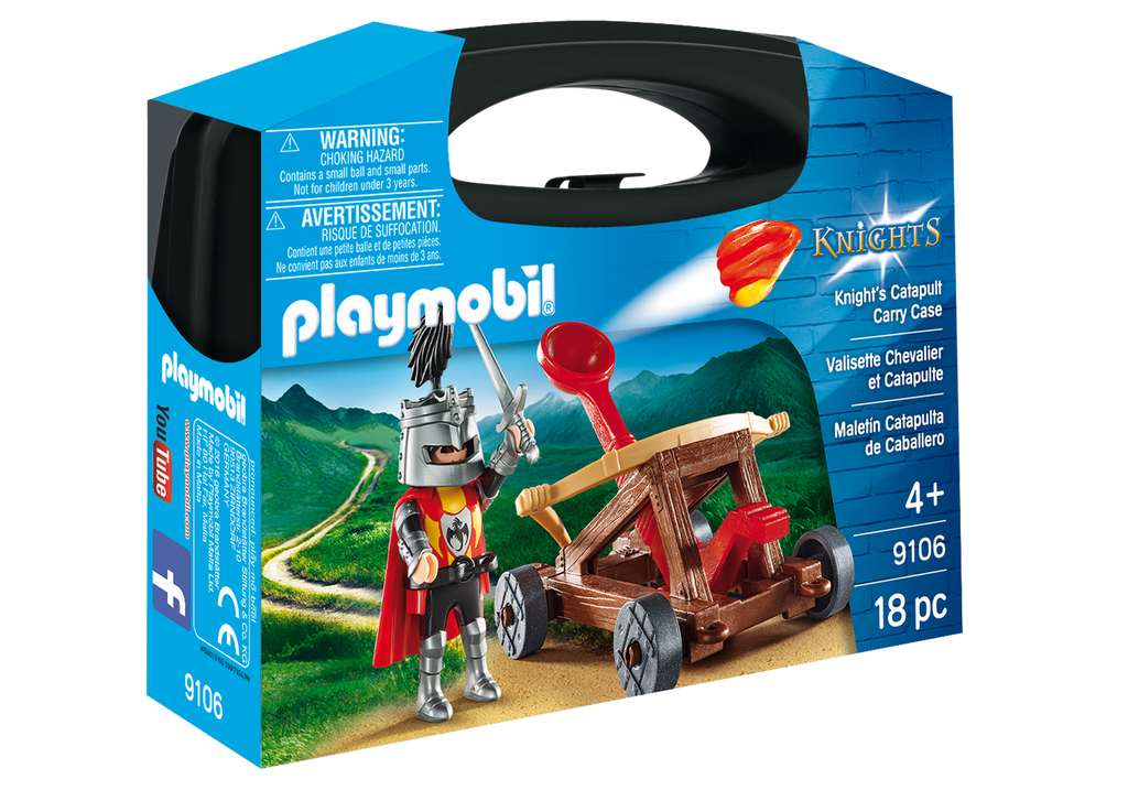 Playmobil - 9106 | Knights: Knight's Catapult Carry Case