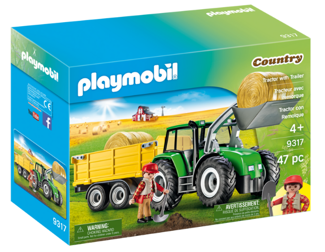 Playmobil - 9317 | Country: Tractor With Trailer