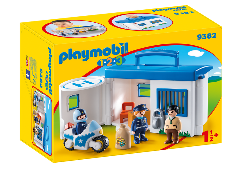 Playmobil - 9382 | 1-2-3 Take Along Police Station