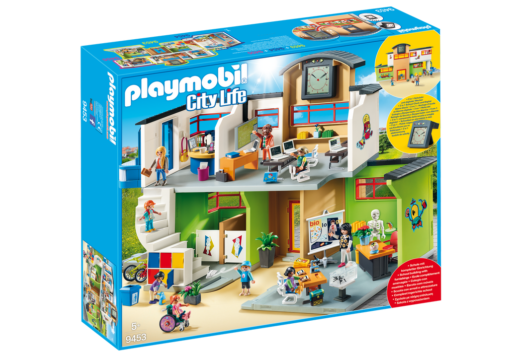 Playmobil - 9453 | City Life: Furnished School Building