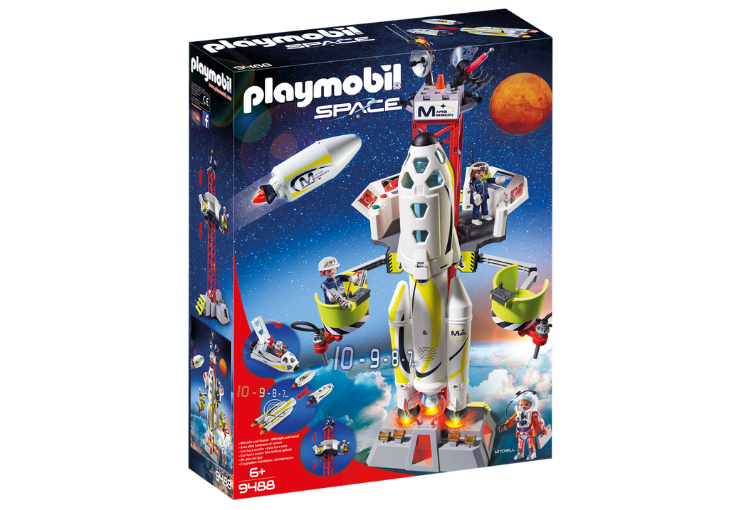 Playmobil - 9488 | Mission Rocket with Launch Site