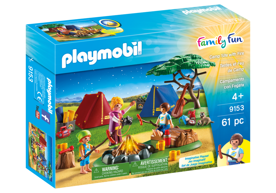 Playmobil - Family Fun: Camp Site With Fire