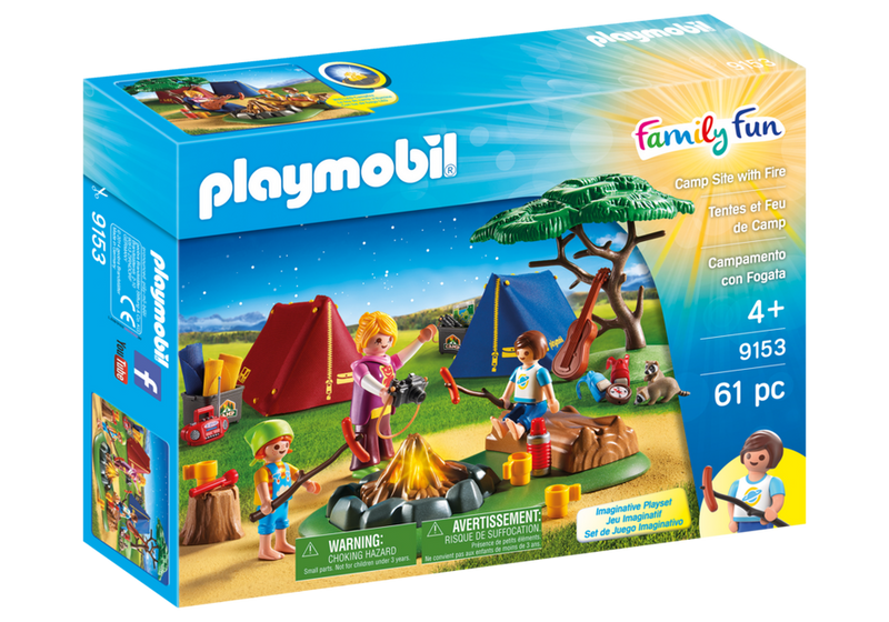 Playmobil Camp Site With Fire - 9153