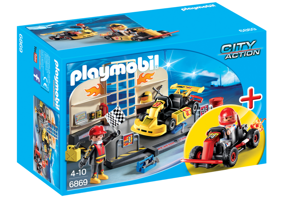Playmobil Go-Kart Garage Starter Set - 6869