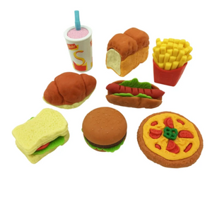 Playwell - 38203 | Fast Food Puzzle Eraser - Assorted (One per Purchase)