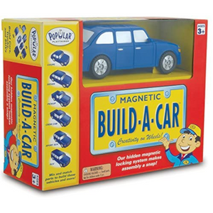 Popular Playthings - 60101 | Magnetic Build-A-Car - Bilingual