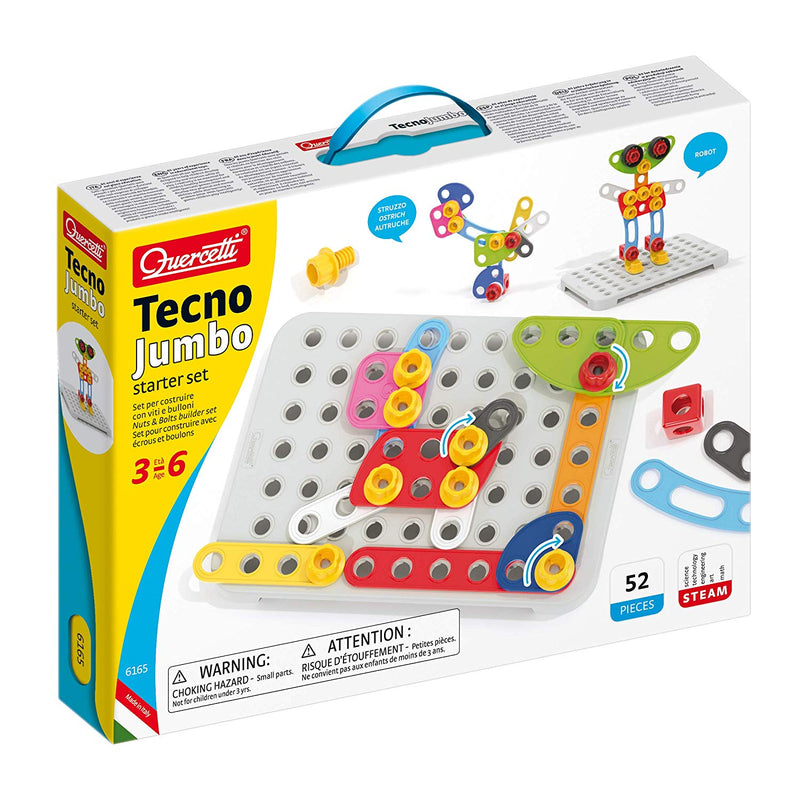 Quercetti - 6165 | Tecno Jumbo Starter Set Construction Engineering Toy