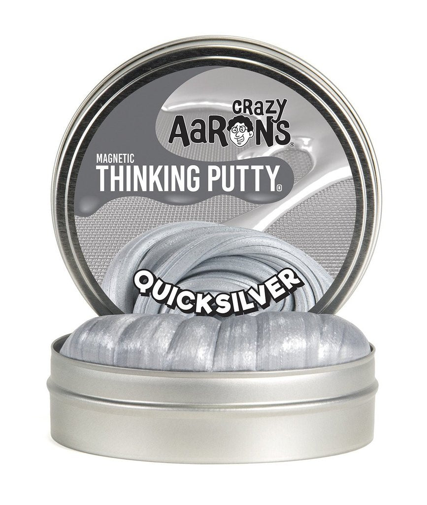 Crazy Aaron's Thinking Putty - QS020 | Super Magnetic: Quicksilver