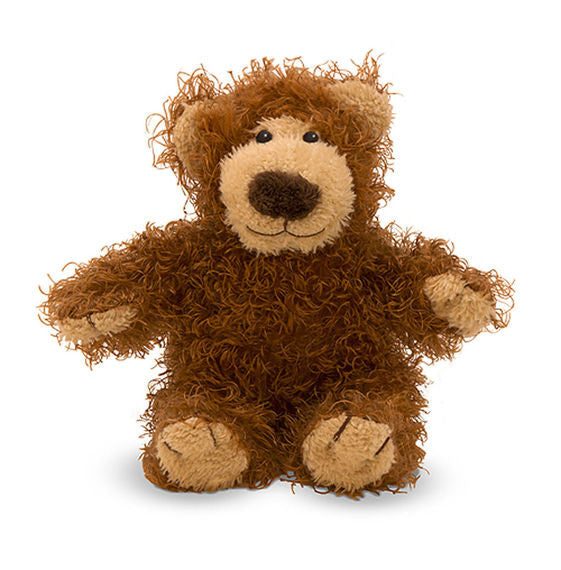 Looking for a big-hearted stuffed animal friend in a lovable little package? Baby Roscoe Bear is here! Roscoe is covered in ultra-snuggly brown plush with tan accents, and has a small, huggable body that kids will love. High-quality fabrics and fill; durable construction; surface washable.