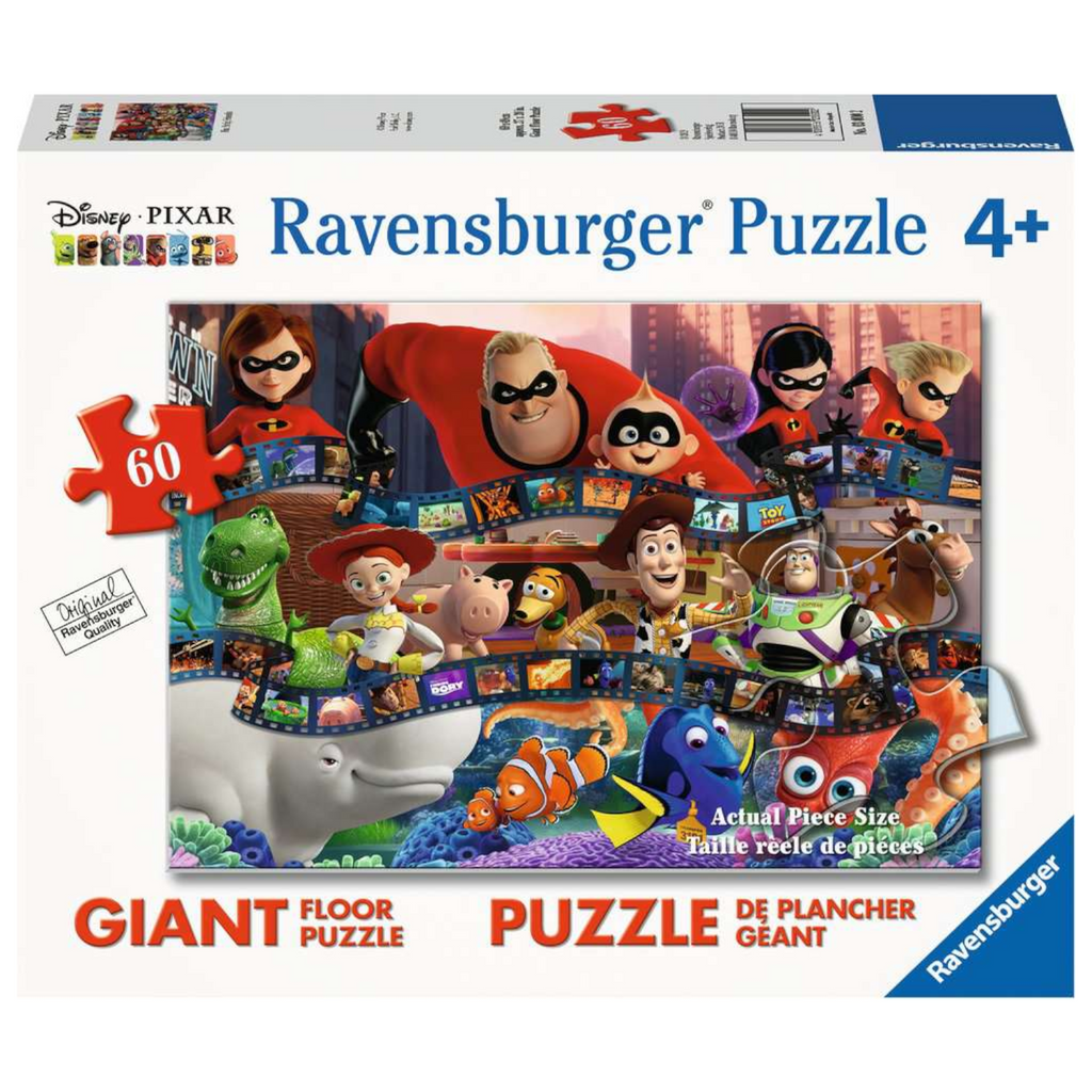 Ravensburger - 03000 | Disney Pixar Filmstrip Friends - 60 PC Giant Floor Puzzle