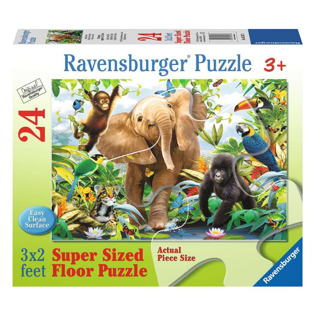 Ravensburger - 05347 | Jungle Juniors - 24 PC Floor Puzzle