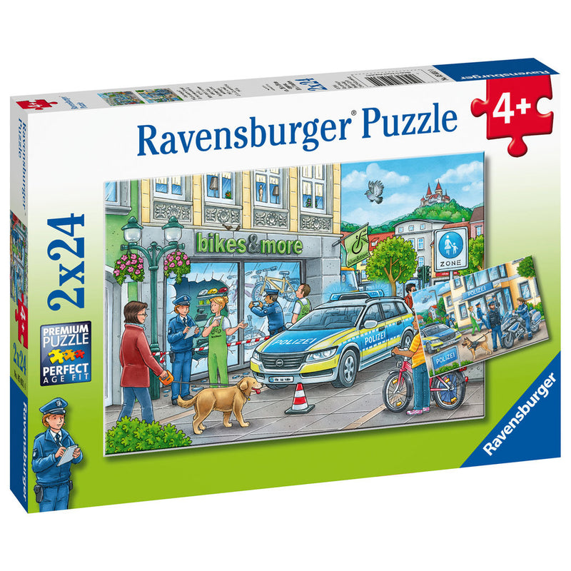 Ravensburger - 05031 | Police at Work! 2x24 Piece Puzzle