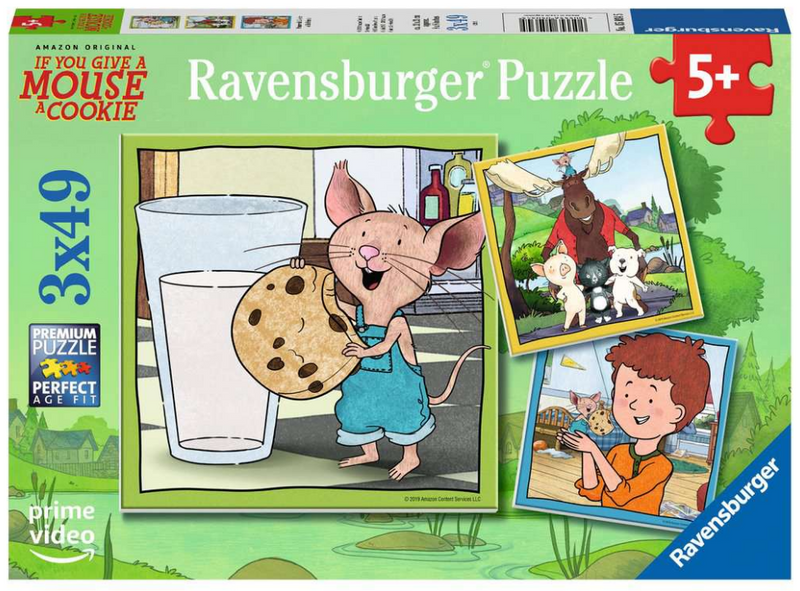 Ravensburger - 05034 | Mouse  and His Friends - 3x49 PC Puzzle