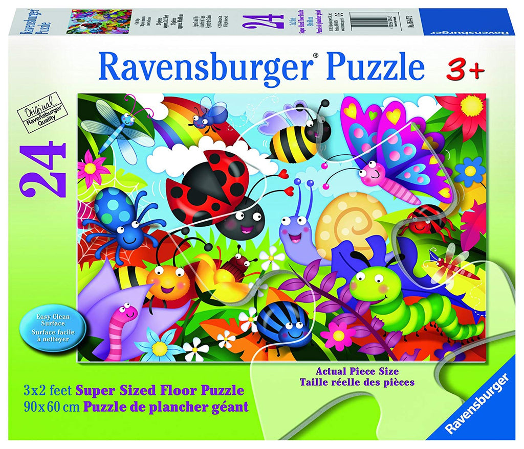 Ravensburger - 05447 | Ravensburger 24 Pieces Puzzle Floor Cute Bugs - 05447