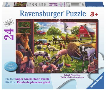 Ravensburger - 05558 | 24 Piece Floor Puzzle Animals of Bell Farm