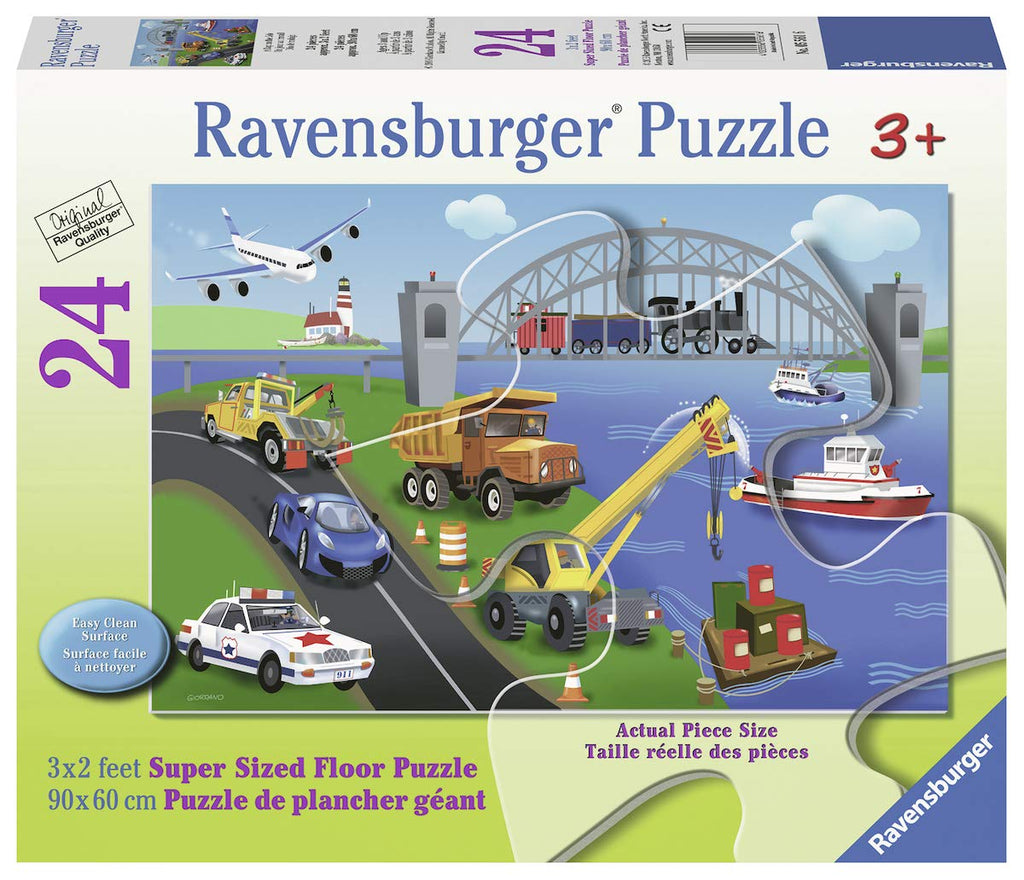 1a9210c4e84 Ravensburger - 05561   24 Piece Floor Puzzle - A day on the Job