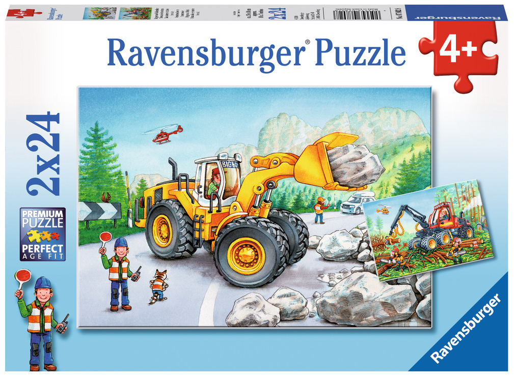 Ravensburger - 07802 | Diggers At Work (2x24 Piece Puzzle)