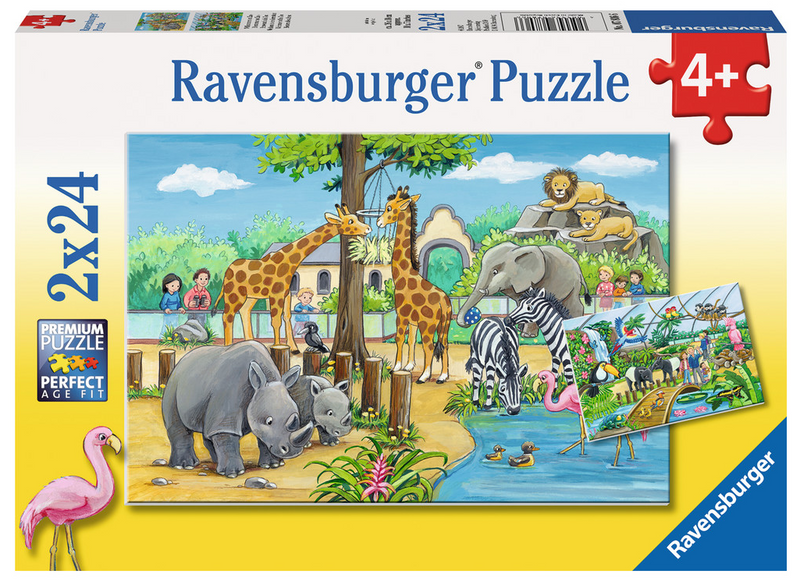 Ravensburger - 07806 | Welcome To The Zoo (2x24 Piece Puzzle)