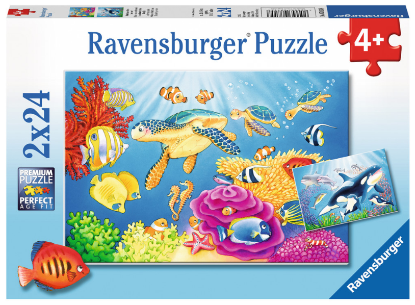 Ravensburger - 07815 | Vibrance Under The Sea (2x24 Piece Puzzle)
