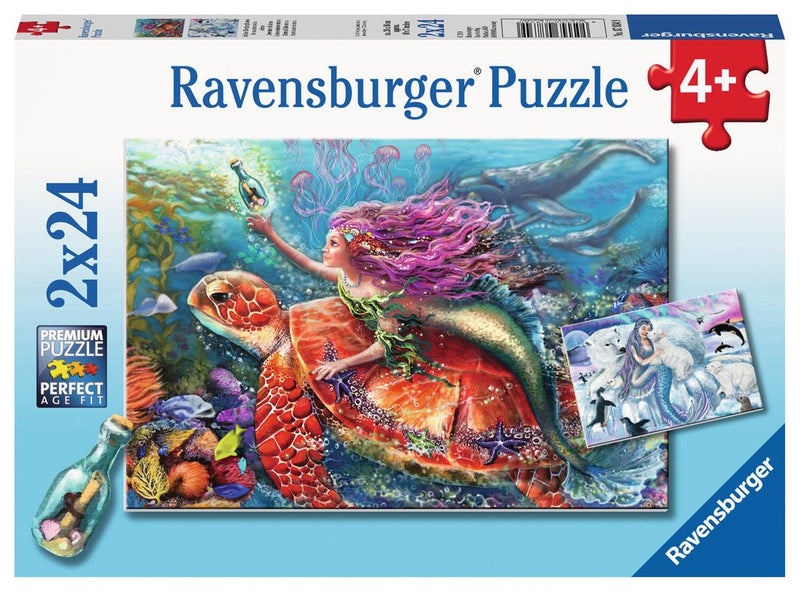 Ravensburger - 07834 | 2X24 Piece Puzzles Mermaid Adventures