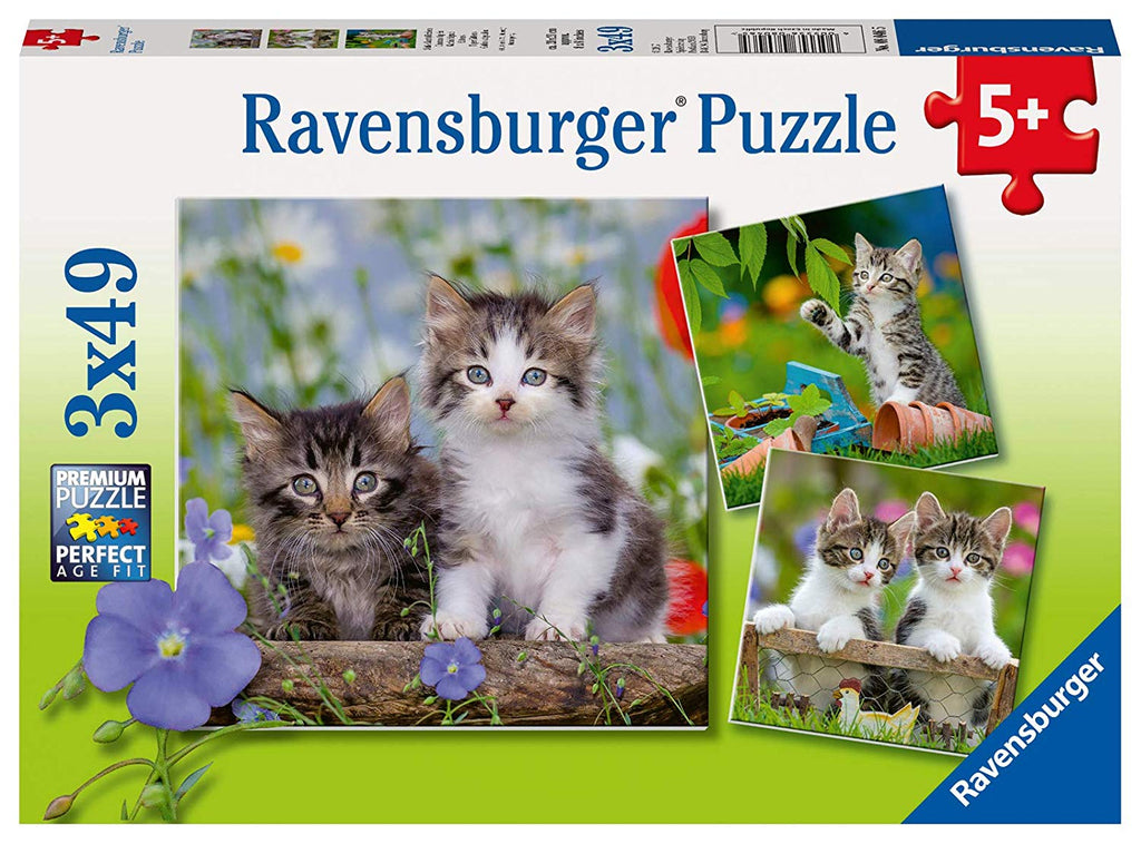 Ravensburger - 08046 | Tiger Kittens 3x49 Piece Puzzle