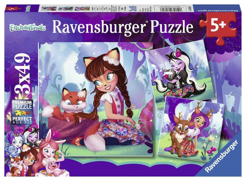Ravensburger - 08061 | 3X49 Piece Puzzle Enchantimals