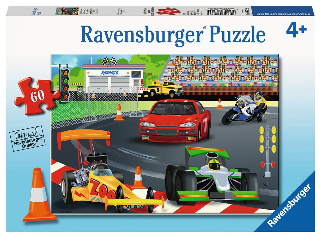 Ravensburger - 09515 | 60 pc Puzzle Day at the Race