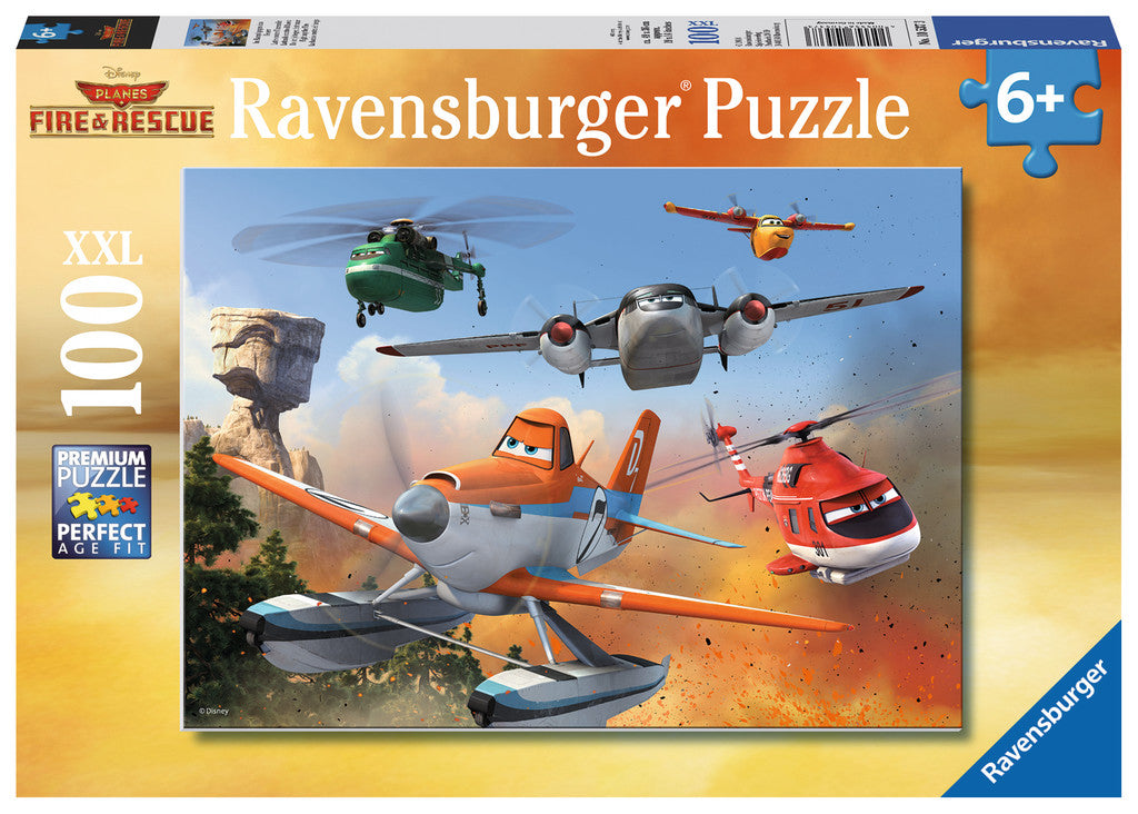 Ravensburger - 10537 | Planes Fire & Rescue 100 Piece Puzzle Fighting the Fire