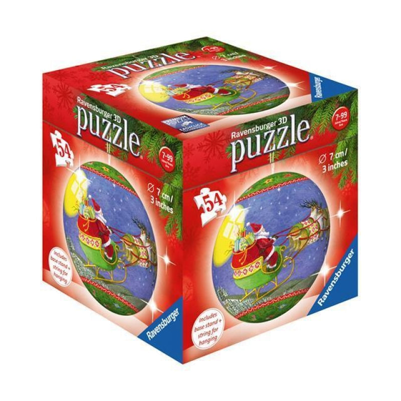 Ravensburger - 11923 | Christmas 54 PC 3D Puzzle Ball: Santa