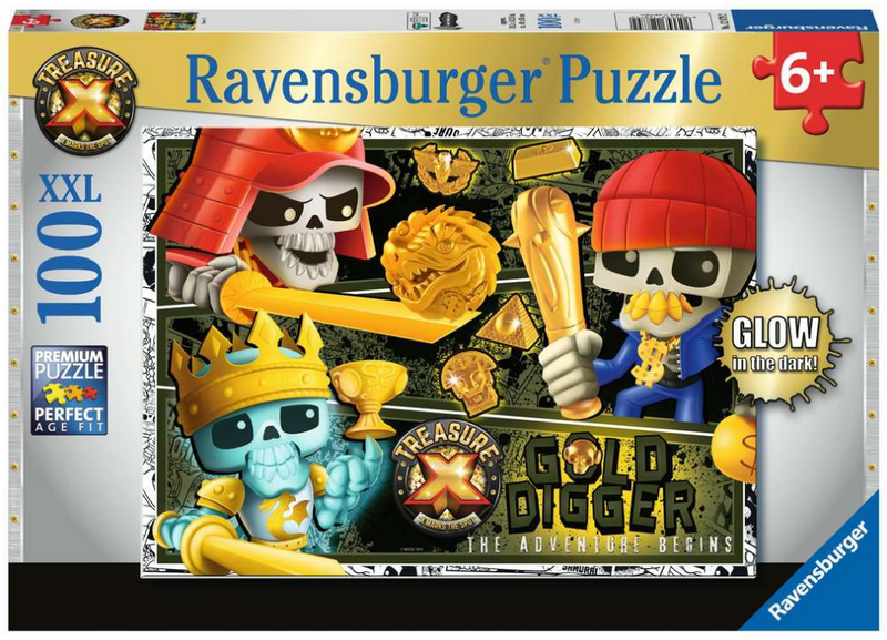 Ravensburger - 12879 | TX: Treasure X Glow-in-the-Dark 100 Piece Puzzle