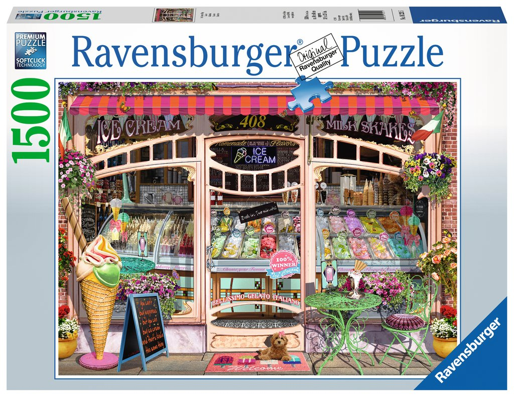 Ravensburger - 16221 | 1500 pc Puzzle  Ice Cream Shop