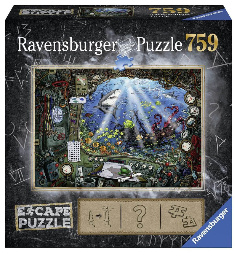 Ravensburger - 19959 | Escape Puzzle 4 - Submarine (759 pieces)