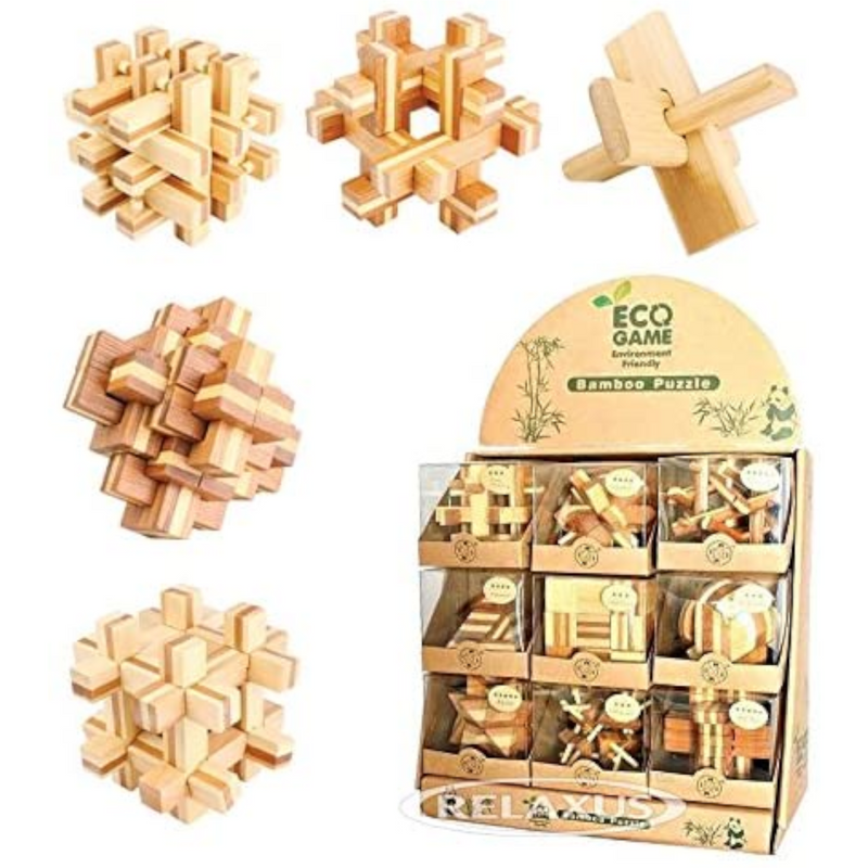 Relaxus - L00774 | Assorted The Brain Teaser Eco Puzzle: One per Purchase