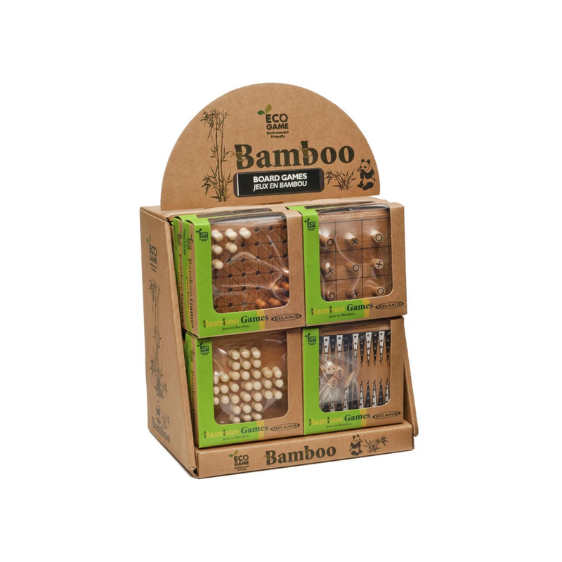 Relaxus - L00775 | Assorted Eco Bamboo Board Game: One per Purchase