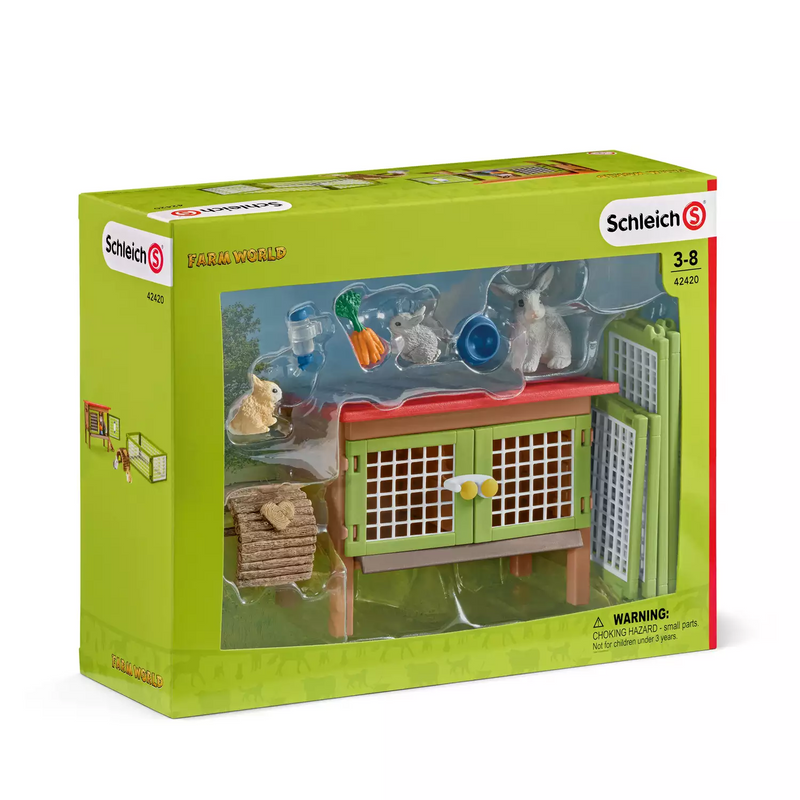 Schleich - 42420 | Farm World: Rabbit Hutch