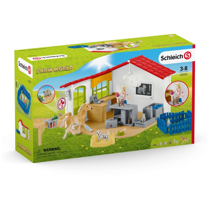 Schleich - 42502 | Farm World: Veterinarian Practice with Pets
