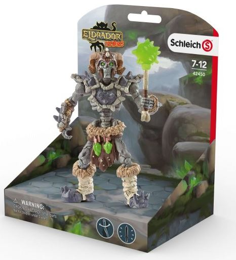 Schleich - 42450 | Eldrador Creatures Stone Skeleton with Weapon