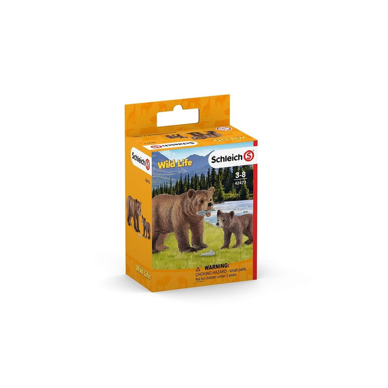 Schleich - 42473 | Wild Life - Grizzly Bear Mother with Cub