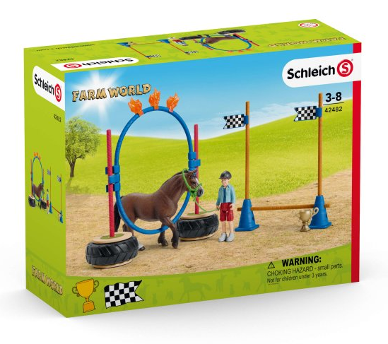 Schleich - 42482 | Farm World: Pony Agility Race