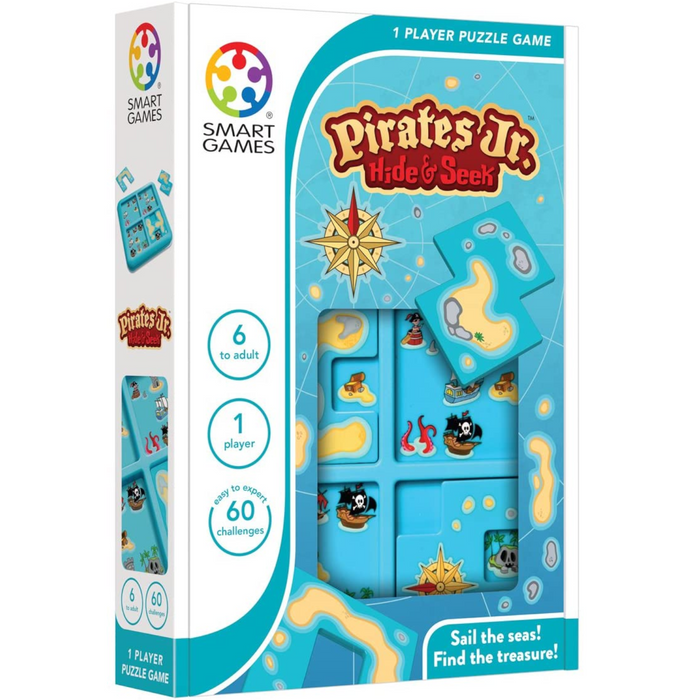 Smart Games - SG432 | Pirates Junior Hide & Seek Educational Logic Game Puzzle