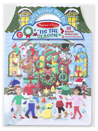 Melissa & Doug - 8586 | Reusable Puffy Stickers: 'Tis The Season
