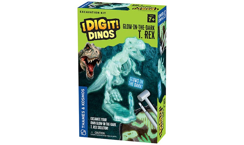 Thames & Kosmos - 630409 | I Dig It! Dinos - Glow in the Dark Kit: T. Rex