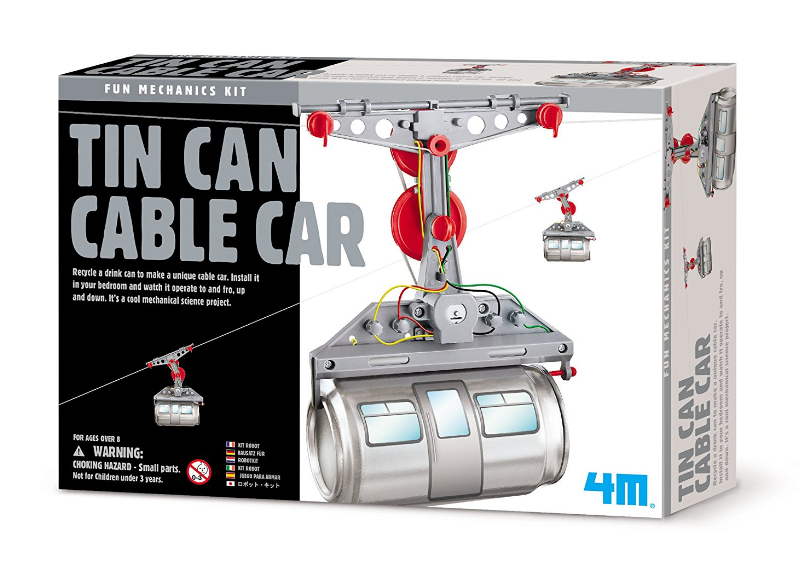 4M - P3358 | Fun Mechanics Kit: Tin Can Cable Car