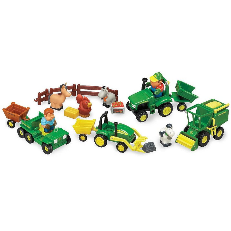 Tomy - 34984 | John Deere 1st Farming Fun - Fun on the Farm Toddler Tractor Set