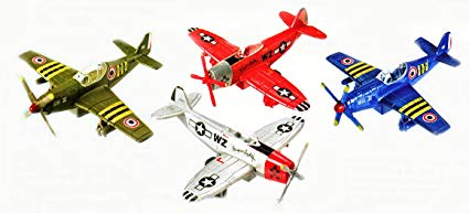 "Toysmith - 2513 | 5"" Vintage Planes Assorted Colors"